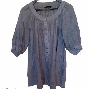 French Connection 100% Cotton Grey Dress/Tunic